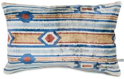 Kadife Ikat Yastık Kılıfı - 60 cm x 38 cm