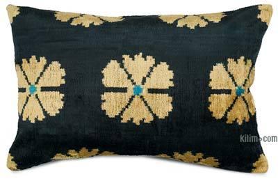 """Velvet Ikat Pillow Cover - 2'  x 1' 4"""" (24 in. x 16 in.)"""