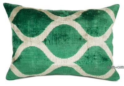 "Velvet Ikat Pillow Cover - 1' 11"" x 1' 4"" (23 in. x 16 in.)"