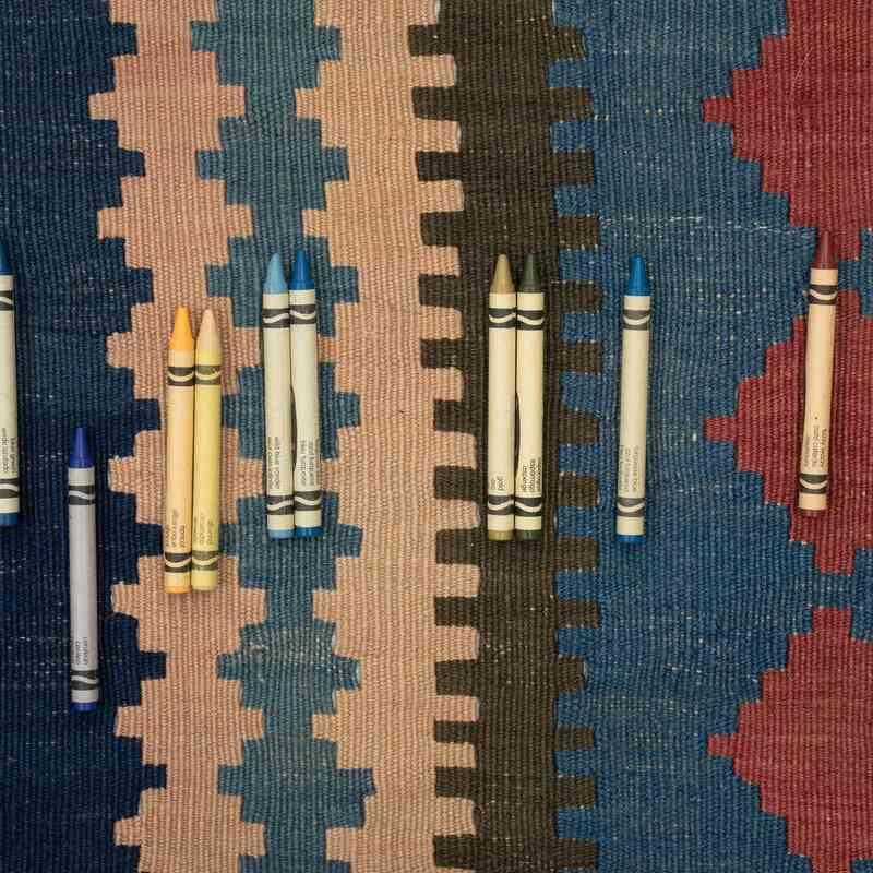 """Antique Kuba Kilim Rug - 6' 3"""" x 14' 6"""" (75 in. x 174 in.) - K0054048"""