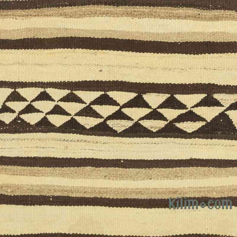 "Beige, Brown Vintage Anatolian Kilim Runner - 2' 9"" x 9'  (33 in. x 108 in.) - K0054063"