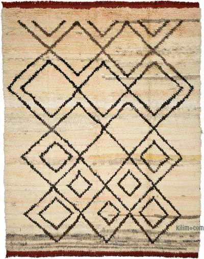 "Beige New Turkish Tulu Rug - 9' 4"" x 12'  (112 in. x 144 in.)"