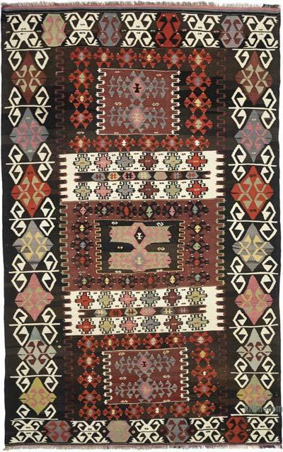 """Vintage Karakecili Kilim Rug - 5' 5"""" x 8' 6"""" (65 in. x 102 in.)"""
