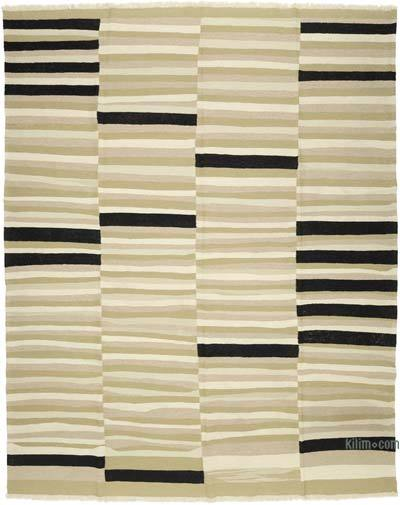 "Beige New Handwoven Turkish Kilim Rug - 9'  x 11' 2"" (108 in. x 134 in.)"