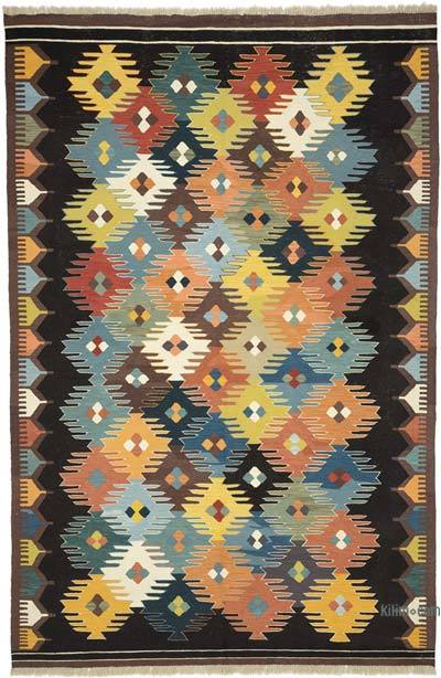 "Multicolor New Handwoven Turkish Kilim Rug - 6' 8"" x 10'  (80 in. x 120 in.)"