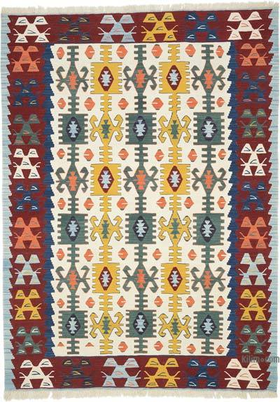 "Multicolor New Handwoven Turkish Kilim Rug - 6' 1"" x 8' 4"" (73 in. x 100 in.)"