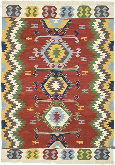 "Multicolor New Handwoven Turkish Kilim Rug - 6'  x 8' 3"" (72 in. x 99 in.)"
