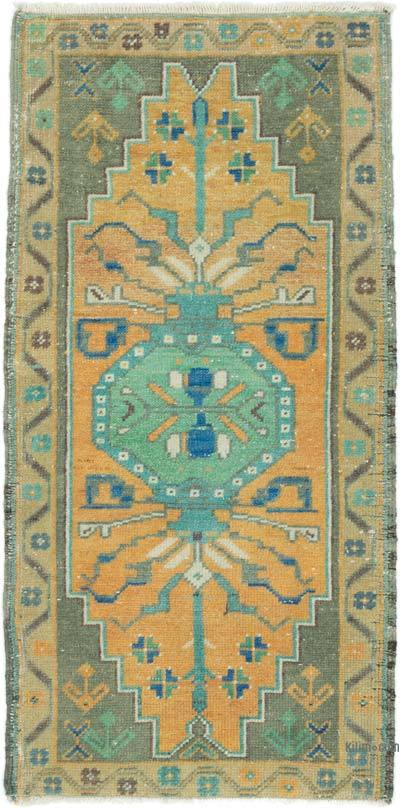 """Vintage Turkish Hand-Knotted Rug - 1' 6"""" x 3' 1"""" (18 in. x 37 in.)"""