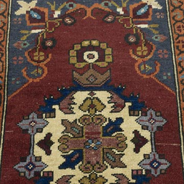 """Vintage Turkish Hand-Knotted Rug - 1' 10"""" x 3' 3"""" (22 in. x 39 in.) - K0054103"""