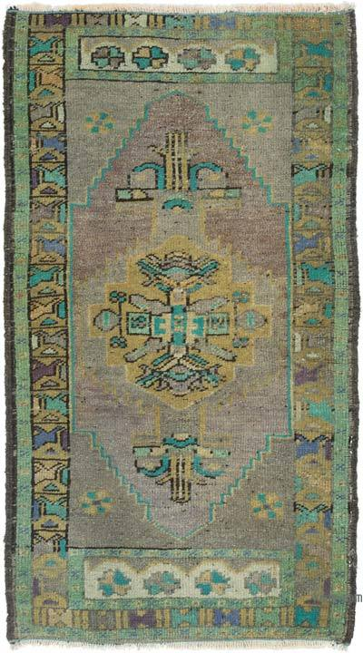 """Vintage Turkish Hand-Knotted Rug - 1' 9"""" x 3' 1"""" (21 in. x 37 in.)"""