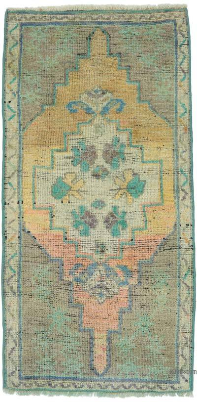 "Turkish Vintage Rug - 1' 10"" x 3' 7"" (22 in. x 43 in.)"
