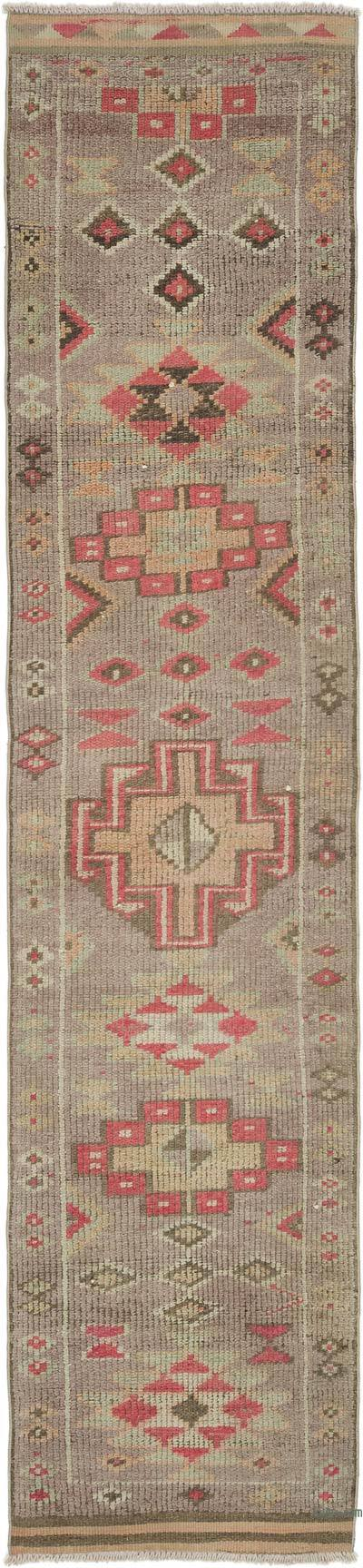 "Vintage Turkish Runner Rug - 2' 9"" x 11' 10"" (33 in. x 142 in.)"