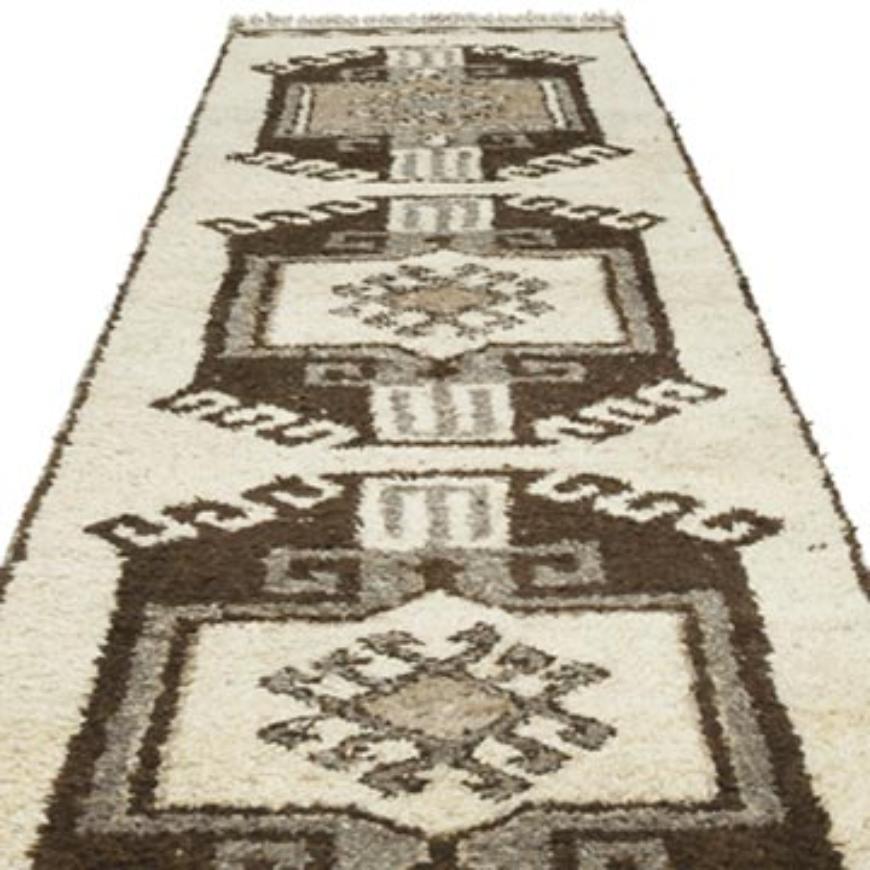 "Vintage Turkish Runner Rug - 3' 6"" x 12' 3"" (42 in. x 147 in.) - K0054200"