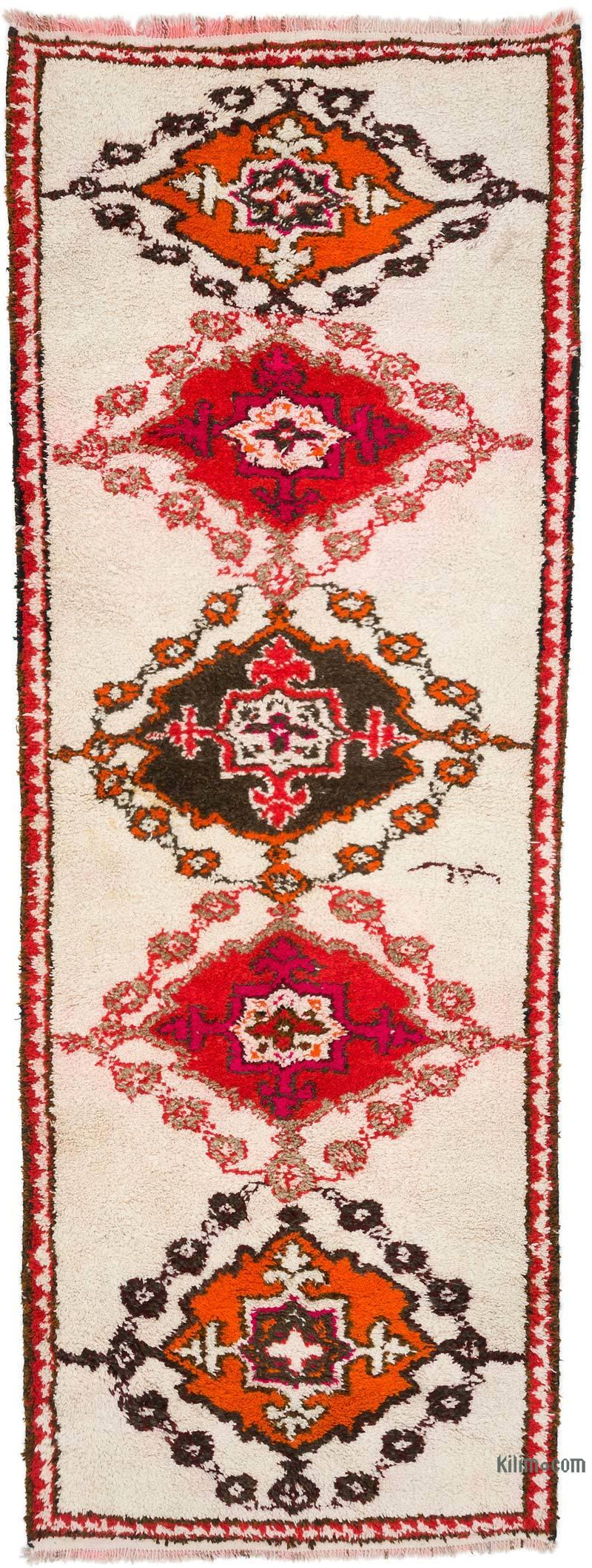 "Vintage Turkish Runner Rug - 4' 3"" x 11' 1"" (51 in. x 133 in.) - K0054201"