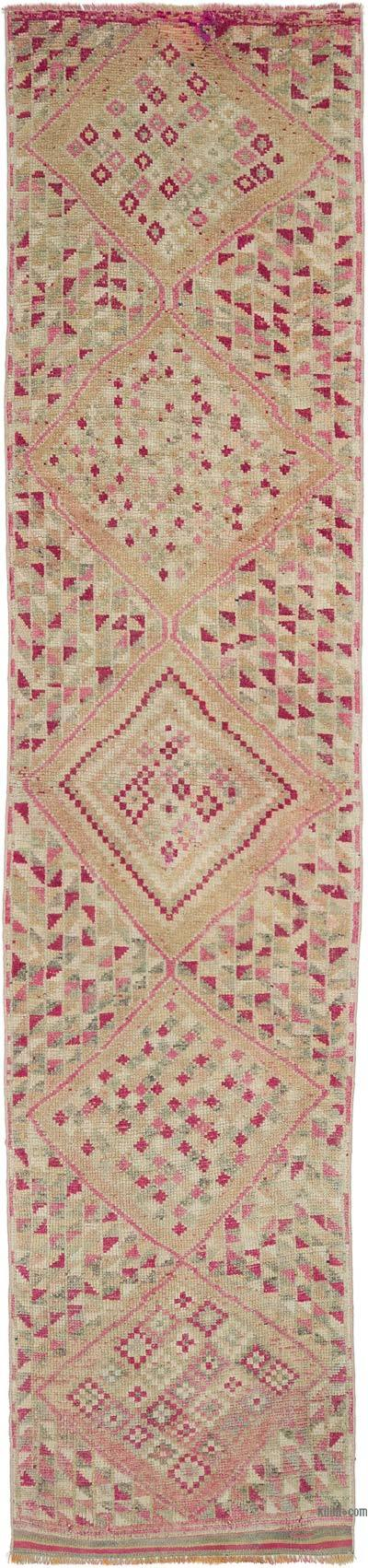 "Vintage Turkish Runner Rug - 12' 10"" x 2' 11"" (154 in. x 35 in.)"