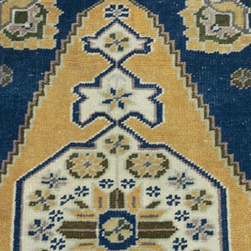 """Vintage Turkish Hand-Knotted Rug - 1' 5"""" x 2' 8"""" (17 in. x 32 in.) - K0054266"""