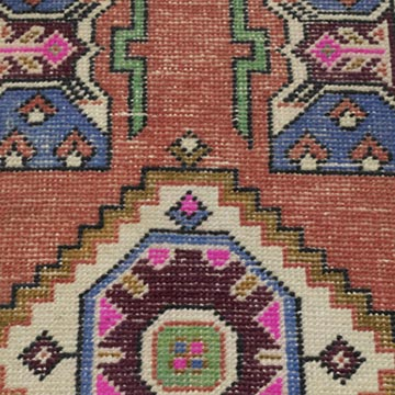 """Vintage Turkish Hand-Knotted Rug - 1' 6"""" x 3' 2"""" (18 in. x 38 in.) - K0054267"""