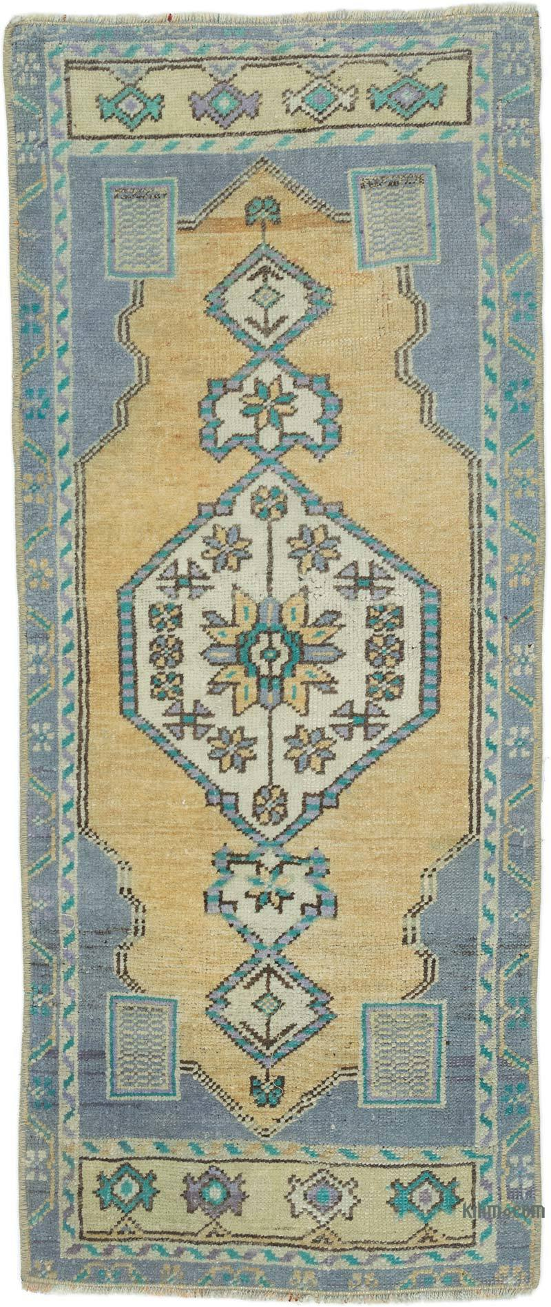"""Vintage Turkish Hand-Knotted Rug - 1' 5"""" x 3' 5"""" (17 in. x 41 in.) - K0054276"""