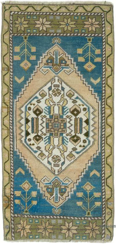 """Vintage Turkish Hand-Knotted Rug - 1' 7"""" x 3' 5"""" (19 in. x 41 in.)"""
