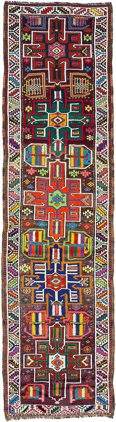 "Vintage Turkish Runner Rug - 2' 11"" x 10' 10"" (35 in. x 130 in.)"