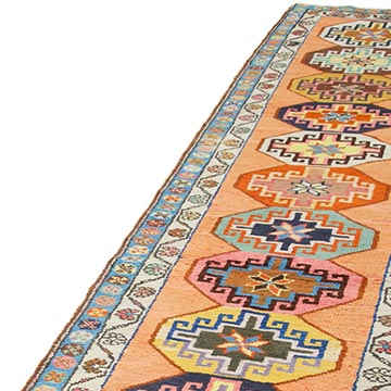 "Vintage Turkish Runner Rug - 2' 11"" x 12' 4"" (35 in. x 148 in.) - K0054302"