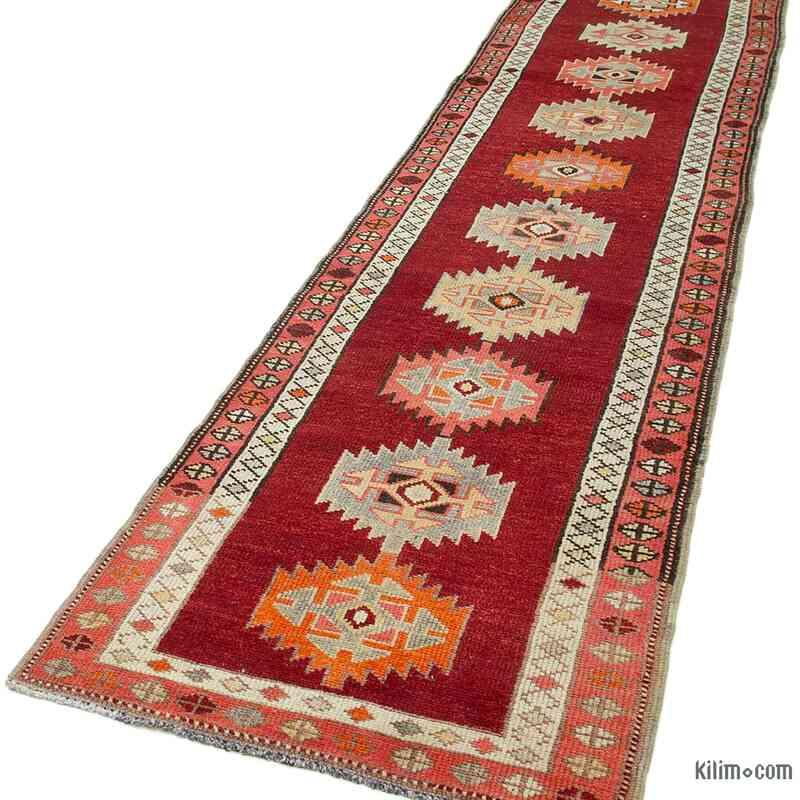 "Vintage Turkish Runner Rug - 2' 11"" x 14'  (35 in. x 168 in.) - K0054311"