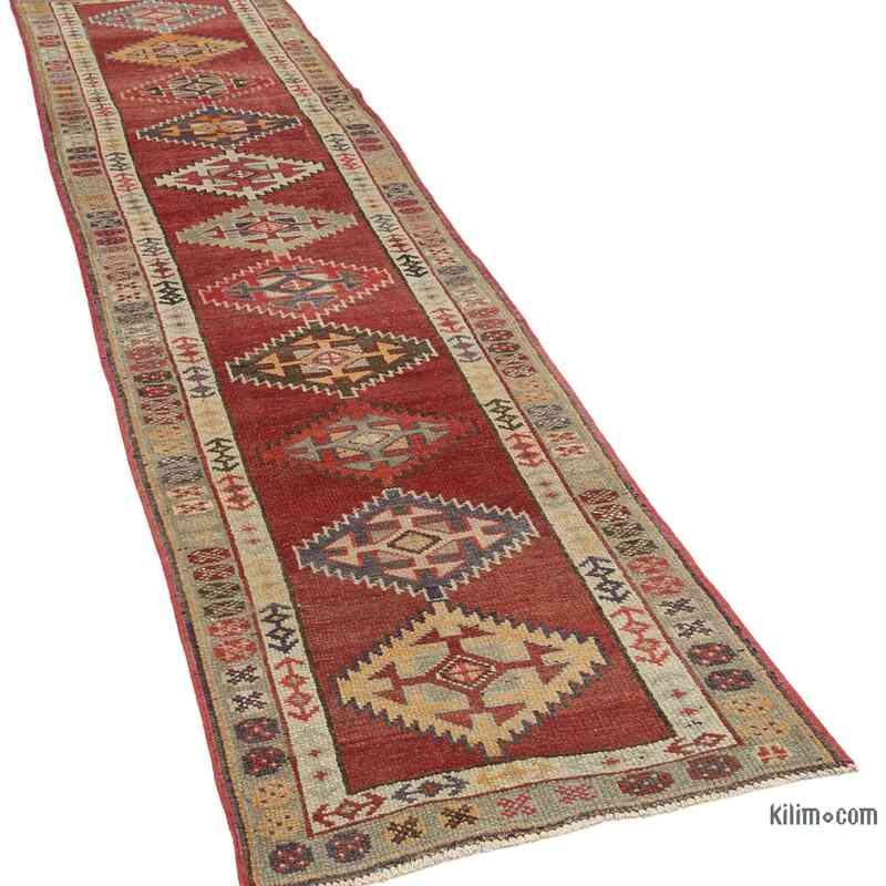 "Vintage Turkish Runner Rug - 2' 9"" x 11' 8"" (33 in. x 140 in.) - K0054321"