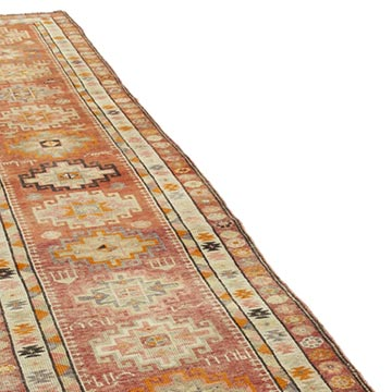 "Vintage Turkish Runner Rug - 2' 10"" x 12' 10"" (34 in. x 154 in.) - K0054328"