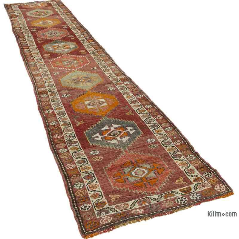 "Vintage Turkish Runner Rug - 2' 9"" x 14' 3"" (33 in. x 171 in.) - K0054348"