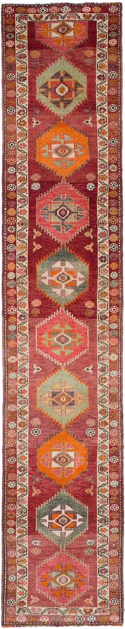 "Vintage Turkish Runner Rug - 2' 8"" x 14'  (32 in. x 168 in.)"