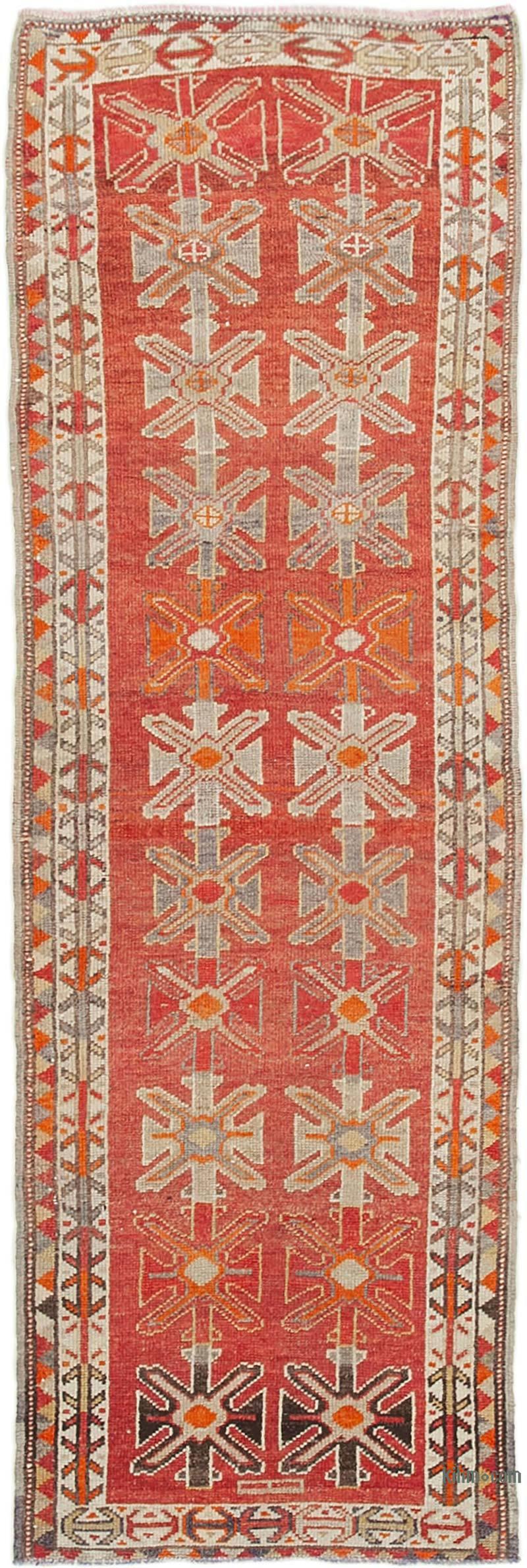 "Vintage Turkish Runner Rug - 3' 5"" x 10' 3"" (41 in. x 123 in.) - K0054353"