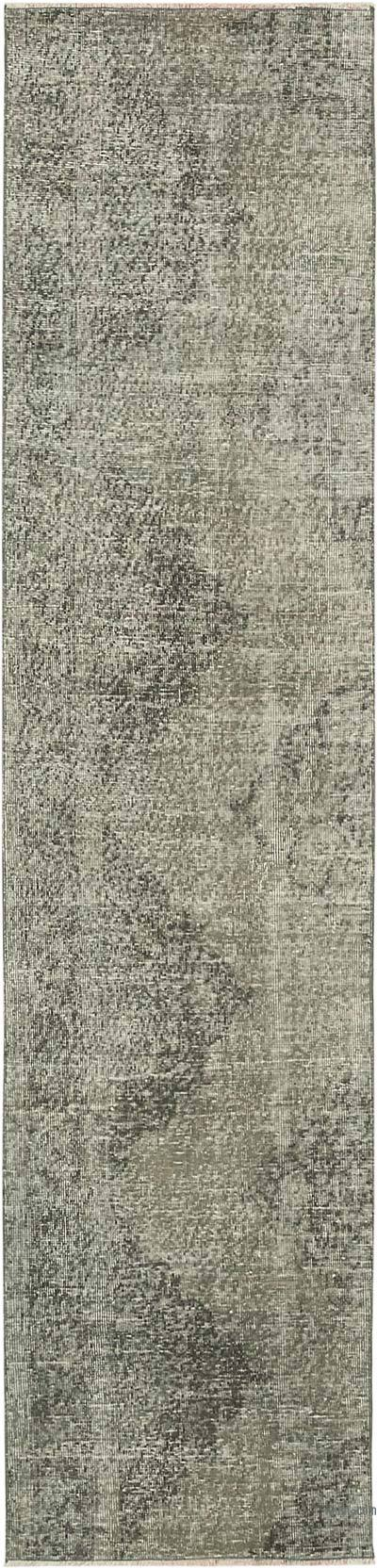 "Grey Over-dyed Turkish Vintage Runner Rug - 2' 4"" x 9' 7"" (28 in. x 115 in.)"