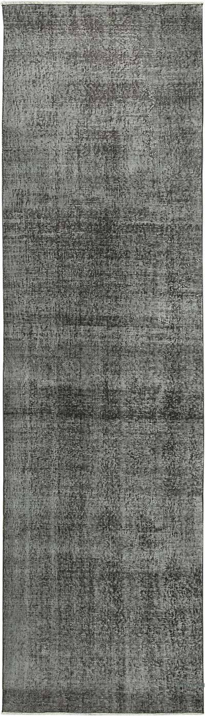 "Grey Over-dyed Turkish Vintage Runner Rug - 2' 9"" x 9' 10"" (33 in. x 118 in.)"
