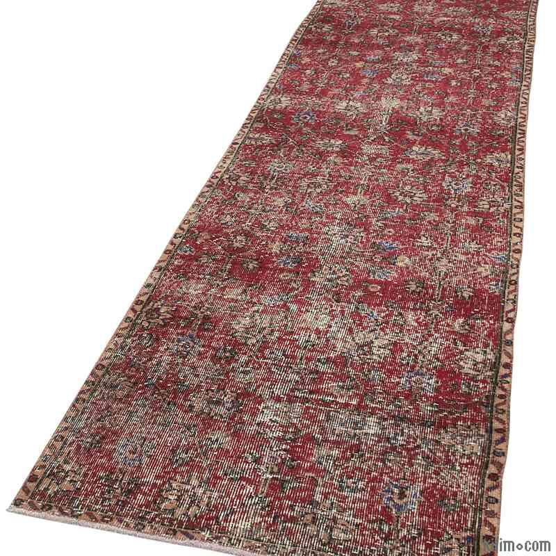 "Vintage Turkish Runner Rug - 2' 10"" x 11' 1"" (34 in. x 133 in.) - K0054565"