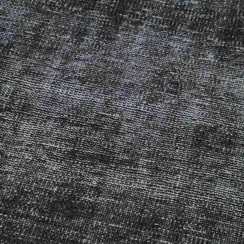 "Black Over-dyed Turkish Vintage Runner Rug - 2' 8"" x 8' 8"" (32 in. x 104 in.) - K0054580"