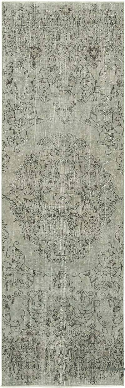 "Grey Over-dyed Turkish Vintage Runner Rug - 2' 10"" x 8' 11"" (34 in. x 107 in.)"