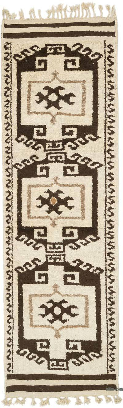 "Vintage Turkish Runner Rug - 3' 8"" x 12' 1"" (44 in. x 145 in.)"