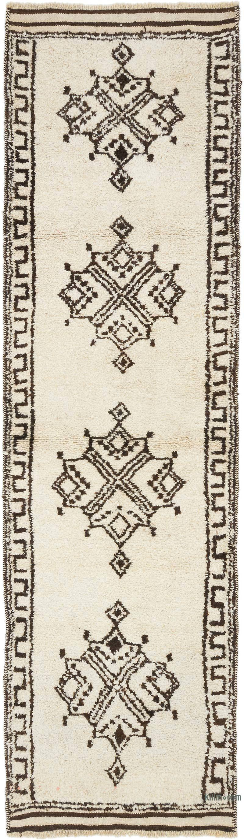 "Vintage Turkish Runner Rug - 3' 3"" x 11' 6"" (39 in. x 138 in.) - K0054605"