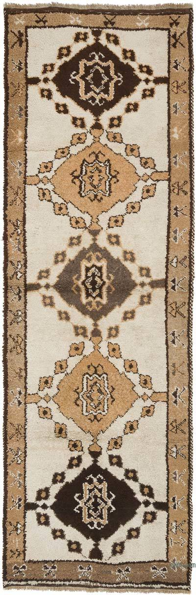 "Vintage Turkish Runner Rug - 3' 9"" x 11' 6"" (45 in. x 138 in.)"