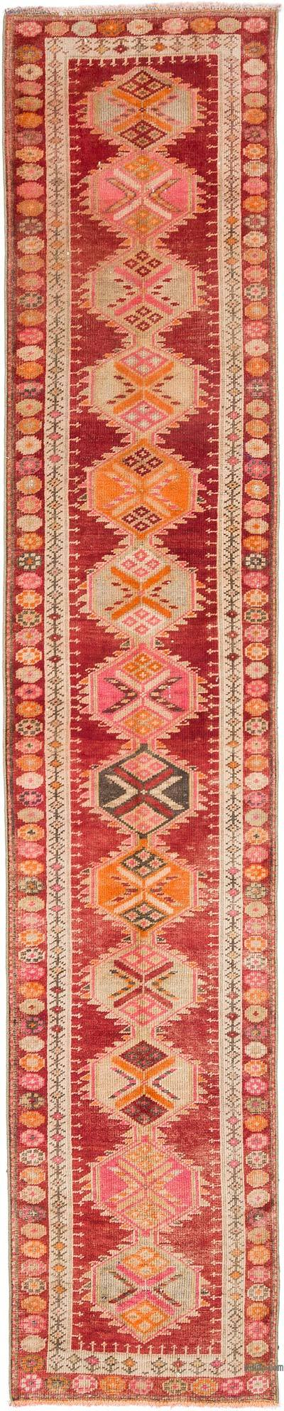 "Vintage Turkish Runner Rug - 2' 7"" x 13'  (31 in. x 156 in.)"