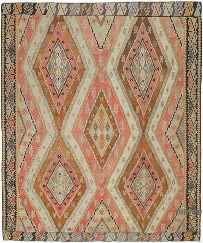 "Antique Ardahan Kilim Rug - 9' 10"" x 11' 10"" (118 in. x 142 in.)"