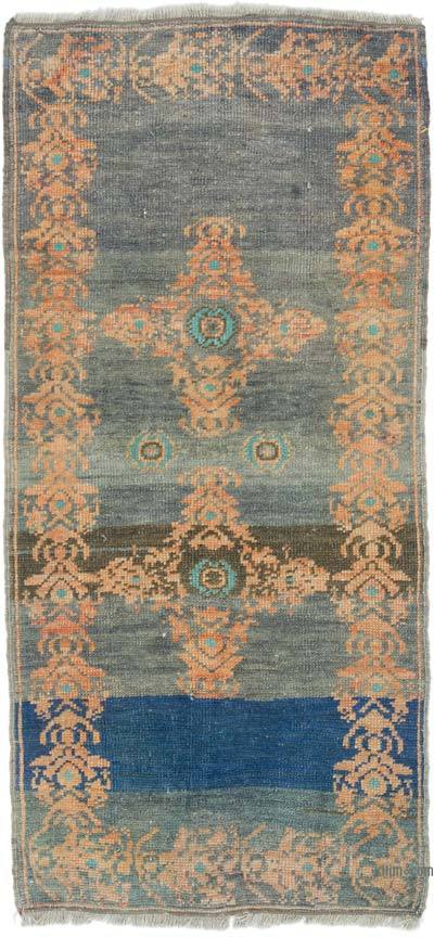 """Vintage Turkish Hand-Knotted Rug - 1' 10"""" x 3' 10"""" (22 in. x 46 in.)"""