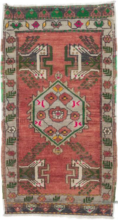 "Turkish Vintage Rug - 1' 11"" x 3' 5"" (23 in. x 41 in.)"