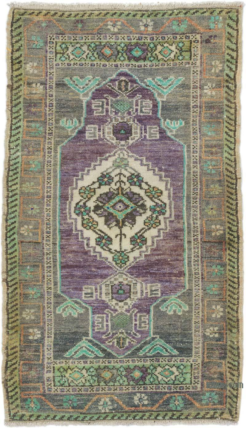 """Vintage Turkish Hand-Knotted Rug - 1' 8"""" x 2' 11"""" (20 in. x 35 in.) - K0054620"""