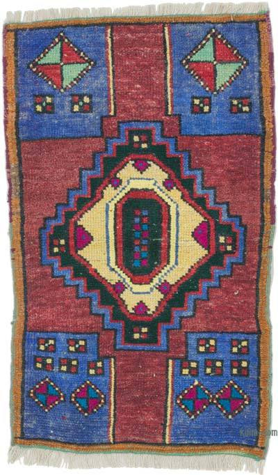 """Vintage Turkish Hand-Knotted Rug - 1' 10"""" x 2' 11"""" (22 in. x 35 in.)"""