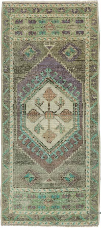 "Turkish Vintage Rug - 1' 5"" x 3' 1"" (17 in. x 37 in.)"