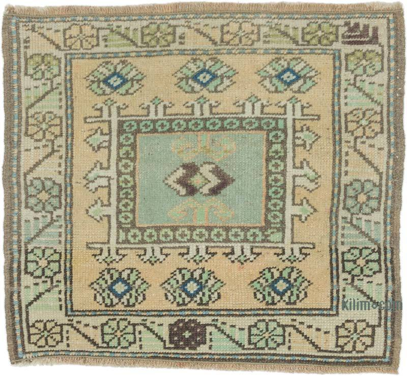 """Vintage Turkish Hand-Knotted Rug - 2' 2"""" x 1' 10"""" (26 in. x 22 in.) - K0054641"""