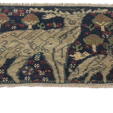 """Vintage Turkish Hand-Knotted Rug - 2' 1"""" x 1' 6"""" (25 in. x 18 in.) - K0054642"""