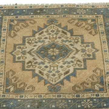 """Vintage Turkish Hand-Knotted Rug - 1' 10"""" x 1' 9"""" (22 in. x 21 in.) - K0054644"""