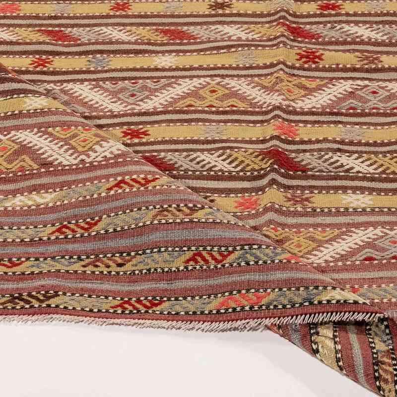 """Vintage Antalya Kilim Rug - 4' 1"""" x 9' 4"""" (49 in. x 112 in.) - K0054651"""